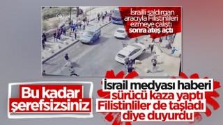 Kudüs'te İsrailli yerleşimci, Filistinlileri ezdi