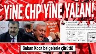 Sağlık Bakanı Fahrettin Koca, CHP'li Tuncay Özkan'ın koronavirüs yalanını jet hızıyla çürüttü