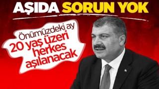 Sağlık Bakanı Fahrettin Koca: Türkiye'de aşı sorunu bitti