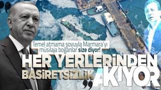 """Başkan Erdoğan'dan """"müsilaj"""" açıklaması: Ülkemizi arıtma tesislerini törenle durduran zihniyetin keyfine terk edemeyiz"""