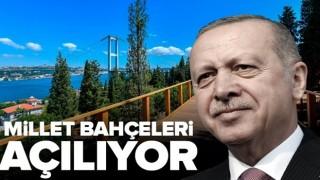 Başkan Recep Tayyip Erdoğan Millet bahçelerini Dünya Çevre Günü'nde açıyor! .