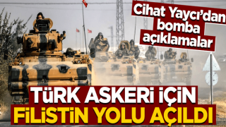 """""""Bu tarihi bir karar"""" diyen Cihat Yaycı'dan Filistin bombası! """"Türk askeri..."""""""