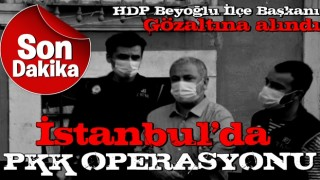 İstanbul'da dev PKK operasyonu! HDP Beyoğlu İlçe Başkanı da gözaltında