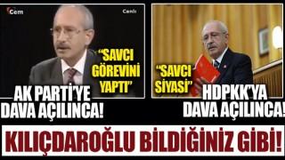 Terörün siyasi ayağı HDP'ye kalkan olan CHP'li Kılıçdaroğlu'nun AK Parti'ye açılan davaya destek verdiği ortaya çıktı