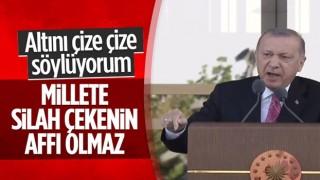 Cumhurbaşkanı Erdoğan: Millete silah çekenin affı olmaz