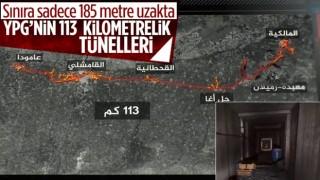 YPG'nin Haseke'de Türkiye sınırı hattında 113 kilometrelik tünelleri bulundu