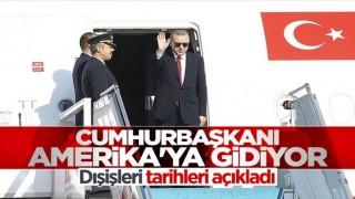 Cumhurbaşkanı Erdoğan'dan ABD'ye ziyaret