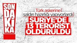 Fırat Kalkanı bölgesinde 13 PKK/YPG'li terörist öldürüldü