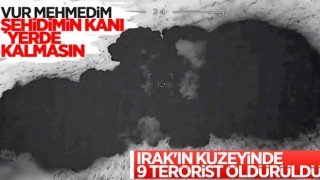 Irak'ın kuzeyinde 9 PKK'lı terörist etkisiz hale getirildi