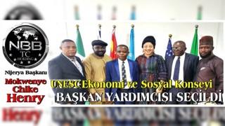 NBBTC Holding Nijerya Başkanı, UNESC Ekonomi ve Sosyal Konseyi Başkan yardımcılığına seçildi.