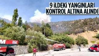 OGM: 9 ildeki tüm yangınlar söndürüldü