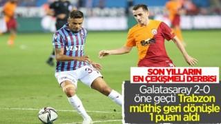 Trabzonspor-Galatasaray derbisinde beraberlik var