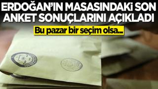 Başkan Erdoğan'ın masasındaki son seçim anketini açıkladı