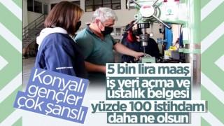 Konya'da meslek lise öğrencileri, 5 bin lira maaşla işe başlıyor