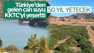Türkiye'nin KKTC'ye gönderdiği can suyu 50 yıl yetecek