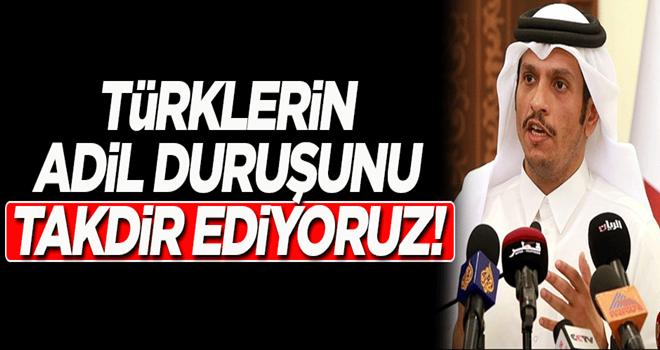 Katar: Türklerin adil duruşunu takdir ediyoruz!