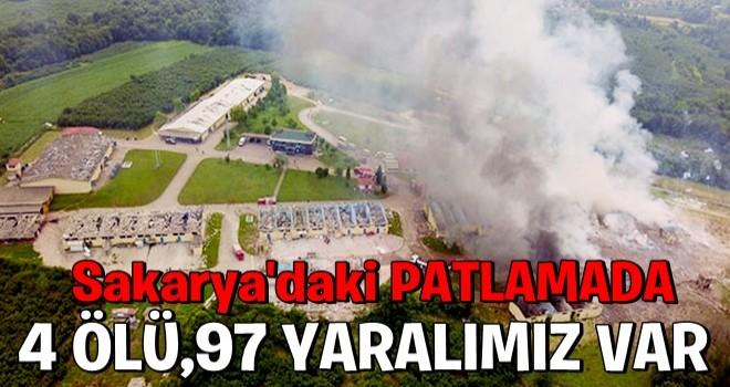 Sakarya'daki patlamada 4 vatandaşımız hayatını kaybetti...