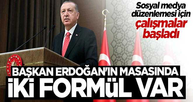 Sosyal medya düzenlemesi için Cumhurbaşkanı Erdoğan'ın masasında 2 formül var