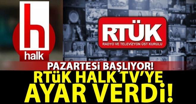 RTÜK'ten Halk Tv açıklaması!