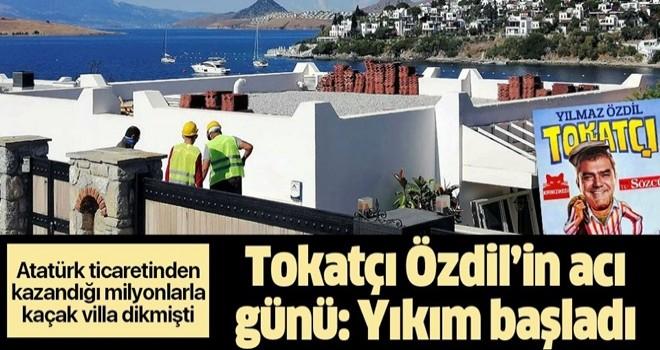 Yılmaz Özdil'in villasındaki kaçak eklentiler yıkılıyor! İşte ilk görüntüler