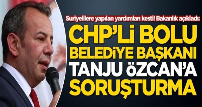 CHP'li Bolu Belediye Başkanı Tanju Özcan'a soruşturma