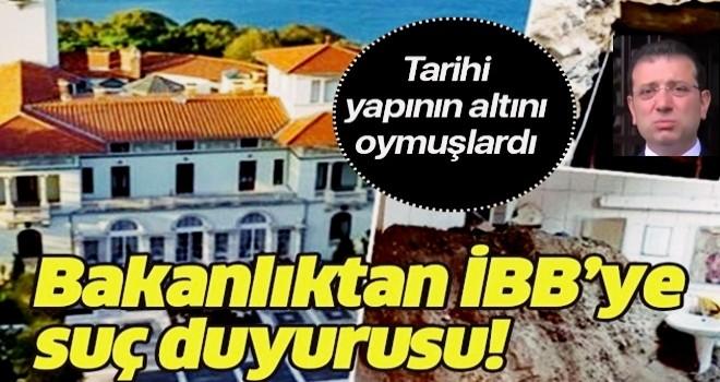 Tarihi Hidiv Kasrı'nın altını oymuşlardı! Kültür ve Turizm Bakanlığı'ndan İBB'ye suç duyurusu