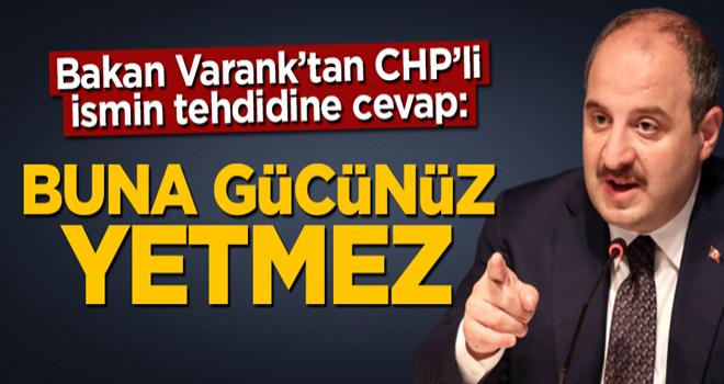 Bakan Mustafa Varank'tan CHP'li Özgür Özel'in konuşturmayacağız' tehdidine sert cevap