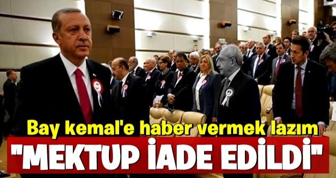 Başkan Erdoğan'dan bay kemal'e mektup göndermesi!