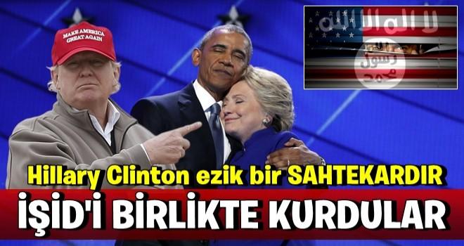Trump: ''IŞİD'i Obama kurdu,yardımcısı da ezik Hillary''