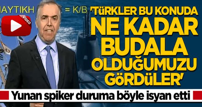 Türk donanması hakkında konuşan Yunan spiker isyan etti: Ne kadar budala olduğumuzu gördüler