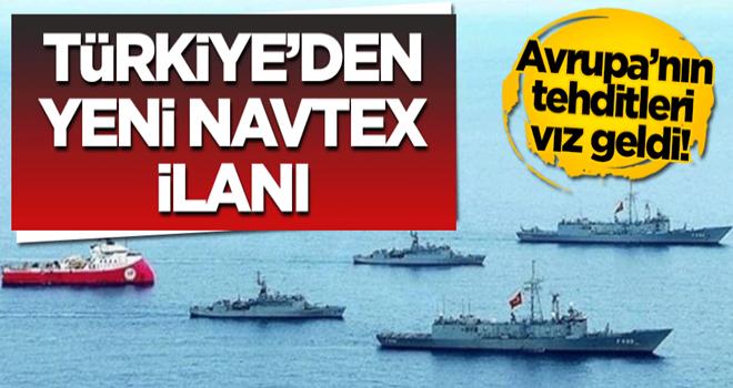 AB'nin tehditleri vız geldi! Türkiye'den yeni Navtex ilanı
