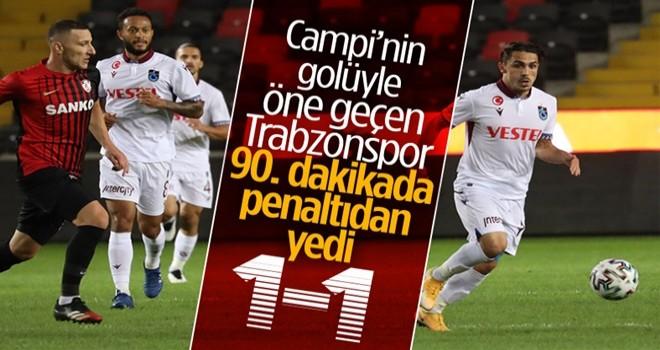 Gaziantep ile Trabzonspor berabere kaldı
