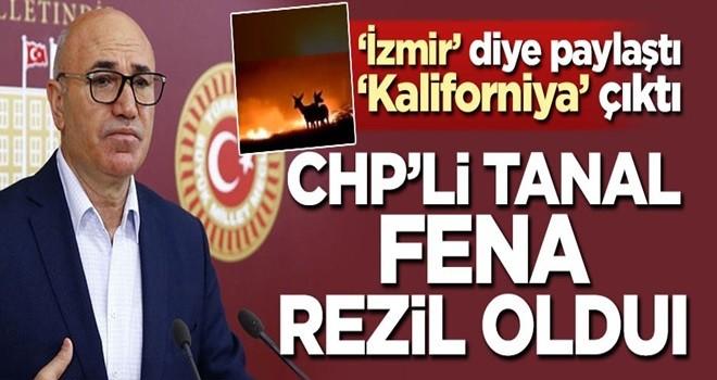 CHP'li Mahmut Tanal'ın yalanı elinde patladı! 'İzmir' dedi, 'Kaliforniya' çıktı .