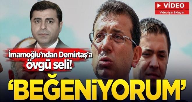 Ekrem İmamoğlu, Kandil'in sözcüsü HDP'li Demirtaş'a yine övgüler dizdi