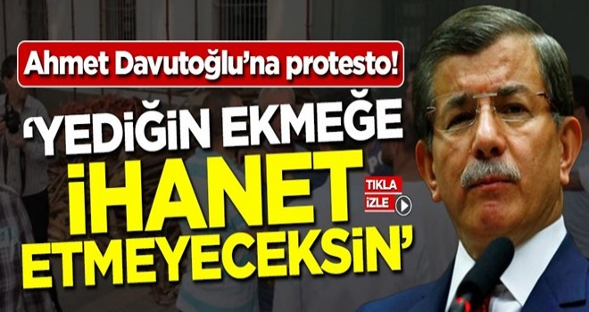 Davutoğlu'na Sakarya'da protesto şoku!