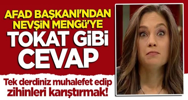 AFAD Başkanı Mehmet Güllüoğlu'ndan Nevşin Mengü'ye tokat gibi cevap