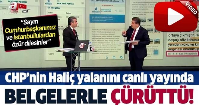 İBB AK Parti Grup Başkanvekili Tevfik Göksu CHP'nin 'Haliç' yalanını A Haber'de belgelerle çürüttü