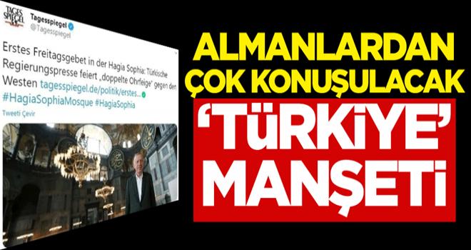 Almanlardan çok konuşulacak 'Türkiye' manşeti