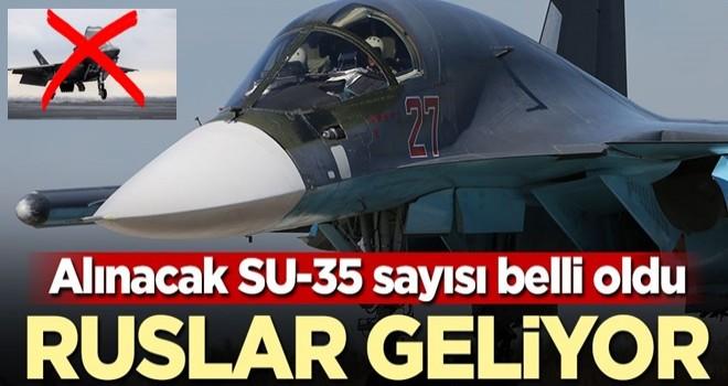 Alınacak SU-35 sayısı belli oldu! Ruslar geliyor