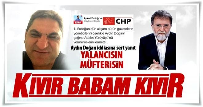 Ahmet Hakan'dan Aykut Erdoğdu'ya ağır yanıt