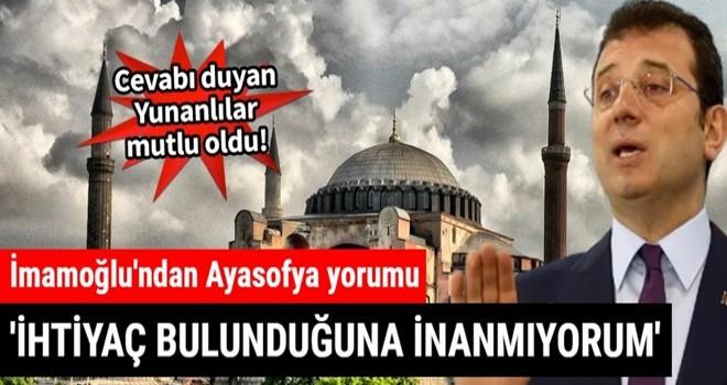 Yunan gazeteci ekrem'e Ayasofya'yı sordu