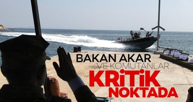 Son dakika: Milli Savunma Bakanı Hulusi Akar ve kuvvet komutanları sıcak bölgede .
