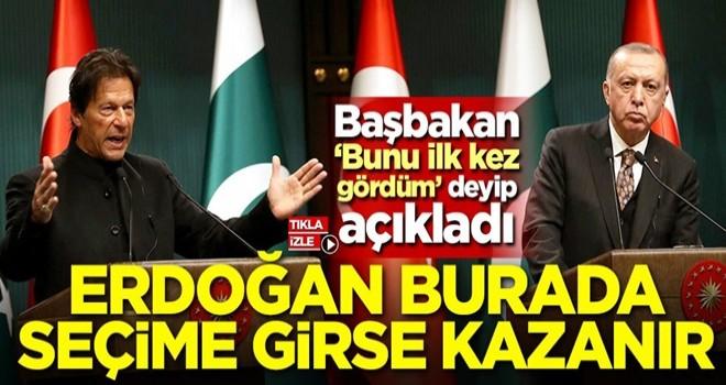 Imran Khan: Erdoğan Pakistan'da seçime girse kazanır