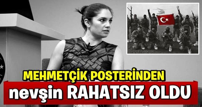 Mehmetçik posteri Nevşin Mengü'yü rahatsız ett