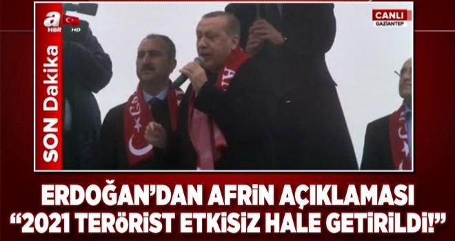 Erdoğan'dan Afrin açıklaması: