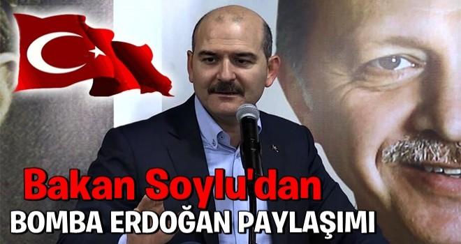 Süleyman Soylu'dan bomba Erdoğan paylaşımı! Sosyal medyada gündem oldu