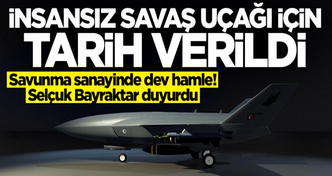 Selçuk Bayraktar duyurdu! İnsansız savaş uçağı için tarih verildi