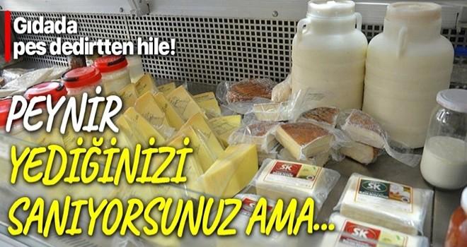 Gıdada pes dedirten hile! Peynir yediğinizi sanıyorsunuz ama...