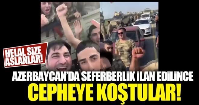 Azerbaycan'ın gençleri cepheye koştu!