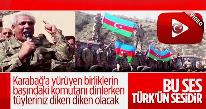Azerbaycan askerleri Karabağ'da ilerleyişini kutladı